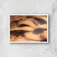Desert Lumps Giclee Art Print - A2 - White Frame