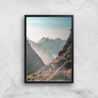 Barron Mountain Scape Giclee Art Print - A2 - Black Frame
