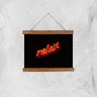 Neon Relax Giclee Art Print - A4 - Wooden Hanger