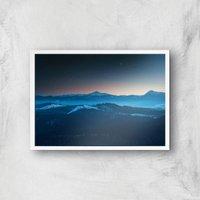Alaskan Mountains Giclee Art Print - A2 - White Frame