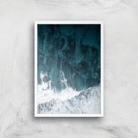 Perfect Wave Giclee Art Print - A3 - White Frame