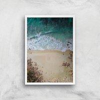 Shore Line Giclee Art Print - A2 - White Frame
