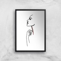 Something In My Throat Giclee Art Print - A3 - Black Frame