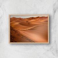 Desert Tracks Giclee Art Print - A3 - Wooden Frame