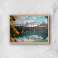 Lakeside View Giclee Art Print - A2 - Wooden Frame