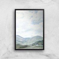 Mountain Drive Giclee Art Print - A2 - Black Frame