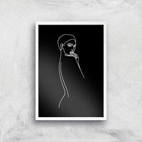 Tonight I'll Consider It Giclee Art Print - A3 - White Frame