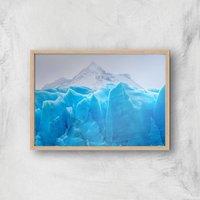 Iceberg Giclee Art Print - A3 - Wooden Frame