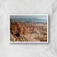 Rocky Outcrops Giclee Art Print - A4 - White Frame