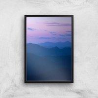 Dusky Purple Giclee Art Print - A4 - Black Frame