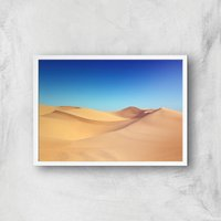 Deserted Desert Giclee Art Print - A4 - White Frame