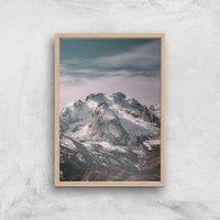 Rocky Mountain Giclee Art Print - A2 - Wooden Frame