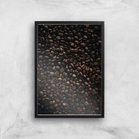 Coffee Beans Giclee Art Print - A3 - Black Frame
