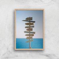 Good Times Signs Giclee Art Print - A2 - Wooden Frame