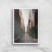 Image of New York City Giclee Art Print - A4 - White Frame