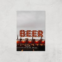 Beer Giclee Art Print - A3 - Print Only - Alcohol Gifts