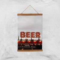 Beer Giclee Art Print - A3 - Wooden Hanger - Beer Gifts