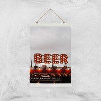 Beer Giclee Art Print - A3 - White Hanger - Beer Gifts