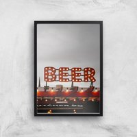 Beer Giclee Art Print - A3 - Black Frame - Alcohol Gifts