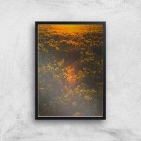 Sunset Field Giclee Art Print - A3 - Black Frame