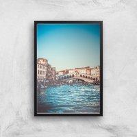 Rialto Bridge Giclee Art Print - A3 - Black Frame