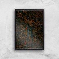 Sharp Turn Forest Giclee Art Print - A2 - Black Frame