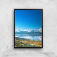 Mountain Reflection Giclee Art Print - A2 - Black Frame