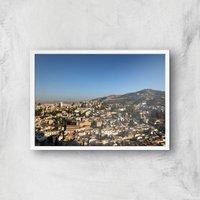 Cityscape Giclee Art Print - A2 - White Frame