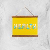 Health Pills Giclee Art Print - A4 - Wooden Hanger