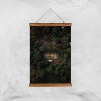 Tennis Court Giclee Art Print - A3 - Wooden Hanger - Sport Gifts