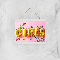 Party Girls Giclee Art Print - A4 - White Hanger