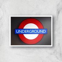 Underground Giclee Art Print - A4 - White Frame