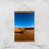 Desert Bush Giclee Art Print - A3 - Wooden Hanger