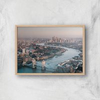 London City Giclee Art Print - A2 - Wooden Frame
