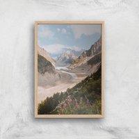 Trail Through The Mountain Giclee Art Print - A3 - Wooden Frame