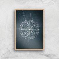 Sky Map Giclee Art Print - A2 - Wooden Frame