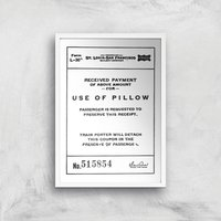 Use Of Pillow Ticket Giclee Art Print - A3 - White Frame