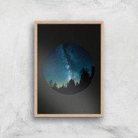 Night Sky Giclee Art Print - A3 - Wooden Frame