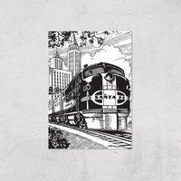 Train Giclee Art Print - A3 - Print Only