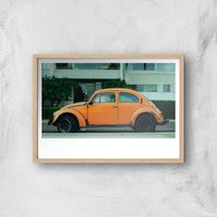 Bug Giclee Art Print - A2 - Wooden Frame