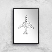 Aeroplane Giclee Art Print - A3 - Black Frame