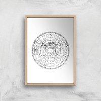Hemisphere Sky Giclee Art Print - A2 - Wooden Frame