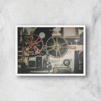 Film Reel Giclee Art Print - A2 - White Frame