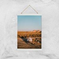 Camping Adventure Giclee Art Print - A3 - White Hanger