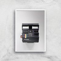 Polaroid Camera Giclee Art Print - A2 - White Frame - Electronics Gifts