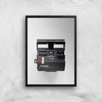 Polaroid Camera Giclee Art Print - A2 - Black Frame - Electronics Gifts