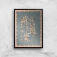 Castle Giclee Art Print - A2 - Black Frame
