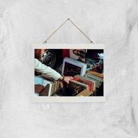 Records Giclee Art Print - A4 - White Hanger