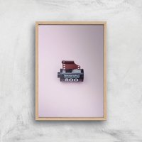 Camera Roll Giclee Art Print - A4 - Wooden Frame - Electronics Gifts