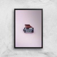 Camera Roll Giclee Art Print - A4 - Black Frame - Electronics Gifts